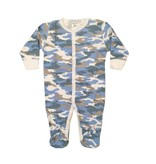 Baby Steps Blue Camo Footie