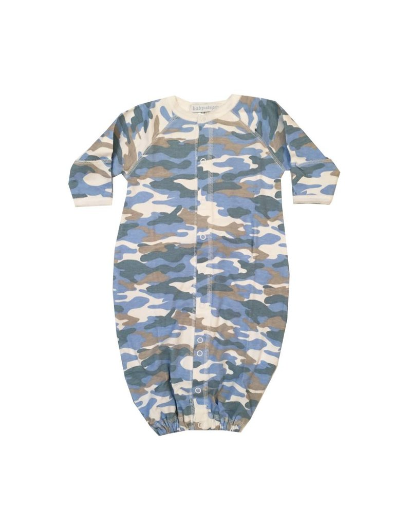 Baby Steps Blue Camo Gown