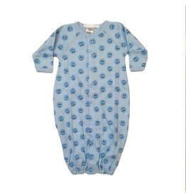 Baby Steps Blue Smiley Gown