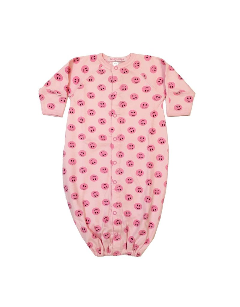 Baby Steps Pink Smiley Gown