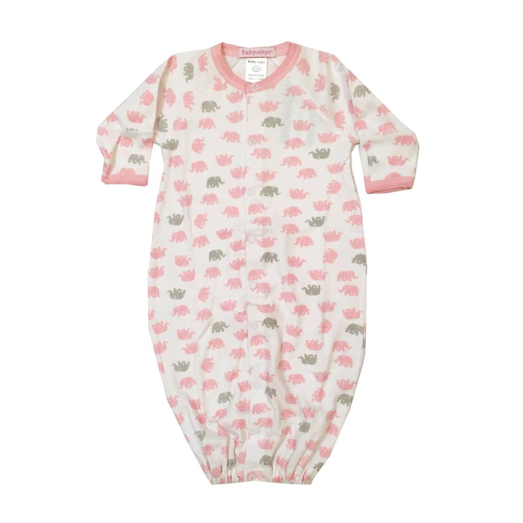 Baby Steps Pink Elephants Gown