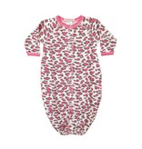 Baby Steps Pink Leopard Gown