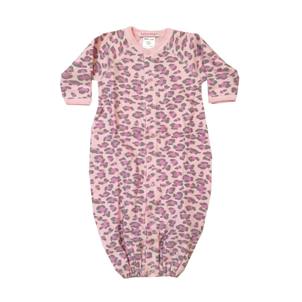 Baby Steps Lilac Leopard Gown