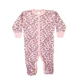 Baby Steps Lilac Leopard Footie