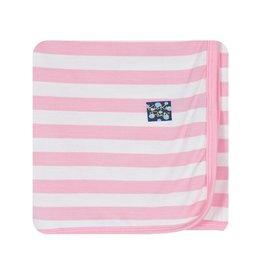 Kickee Pants Pink Stripe Swaddling Blanket