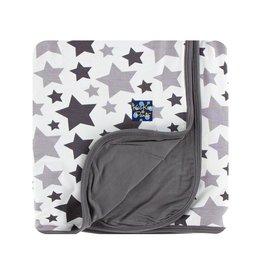 Kickee Pants Grey Stars Swaddling Blanket