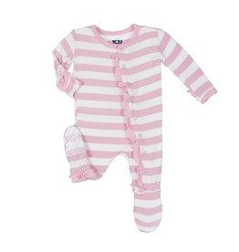 Kickee Pants Pink Stripe Footie