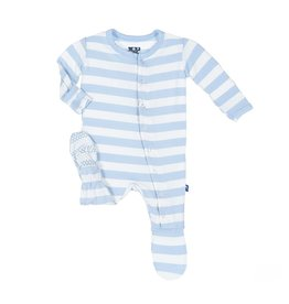Kickee Pants Blue Stripe Footie