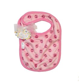 Baby Jar Pink Smiley Bib