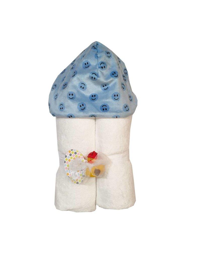 Baby Jar Blue Smiley Hooded Towel