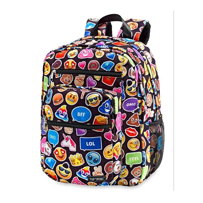 Black Emojicon Funk Backpack