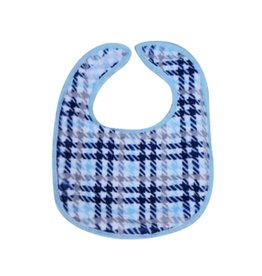 Tickle Toes Blue Houndstooth Bib