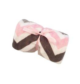 Tickle Toes Pink Chevron Burp Cloth