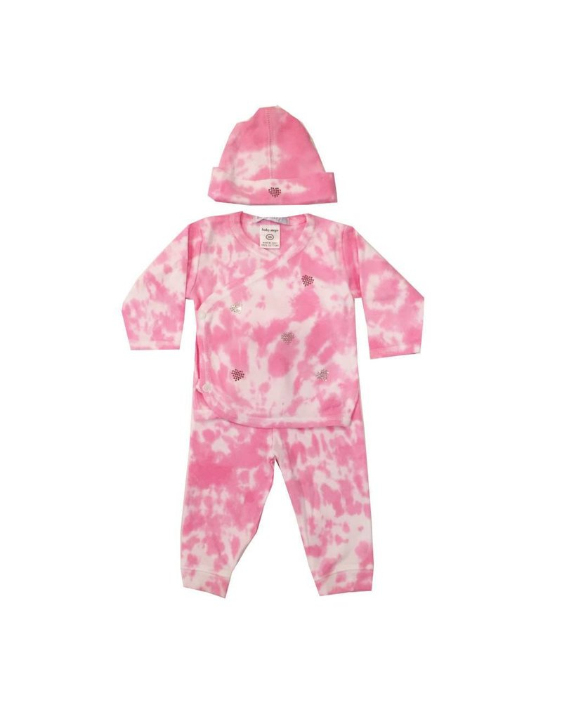 Baby Steps Pink Tie-Dye 3-Pc Set