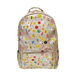 Bari Lynn Glitter Emoji Backpack