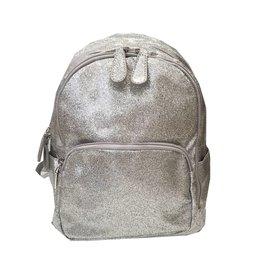 Bari Lynn Mini Silver Glitter Backpack