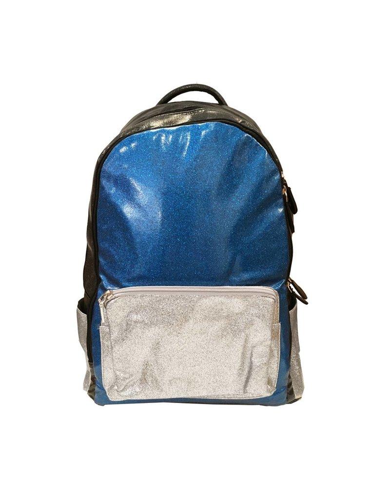 Bari Lynn Blue Glitter Backpack