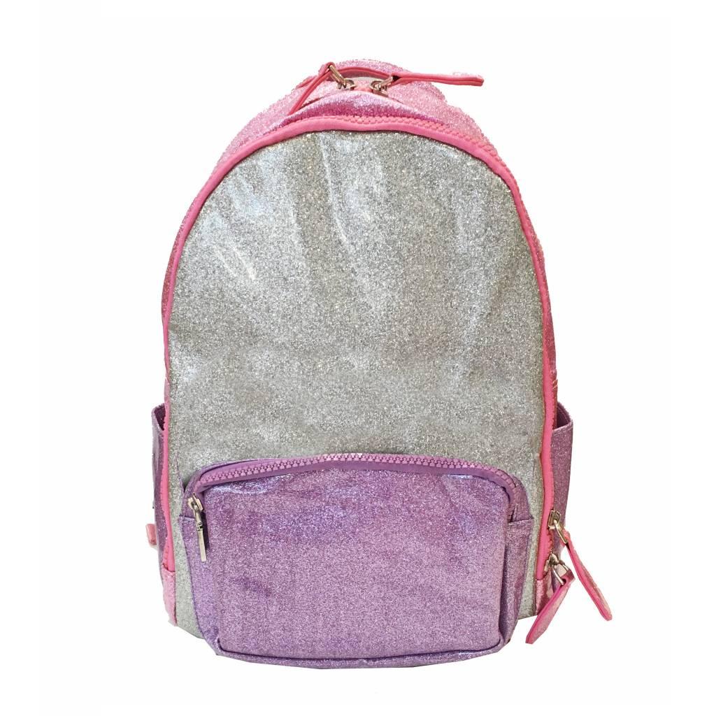 Bari Lynn Pink/Purple Glitter Backpack