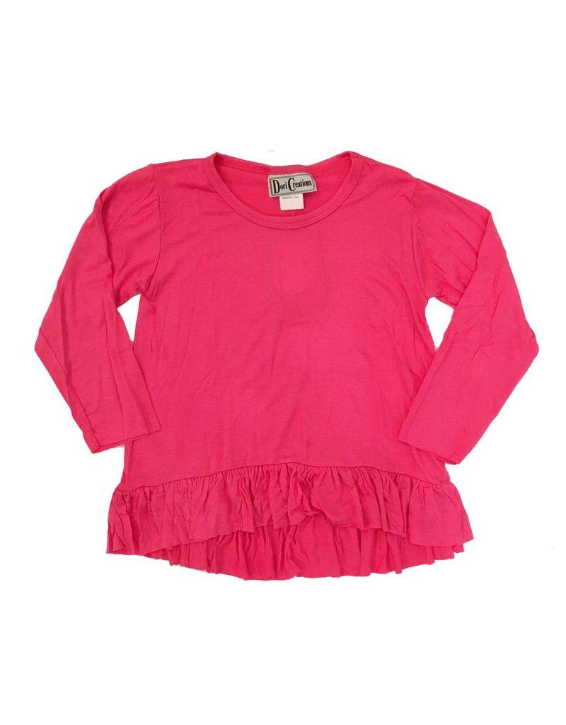 Dori Creations Pink L/S Ruffle Top