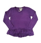 Dori Creations Purple L/S Ruffle Top