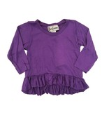 Dori Creations Purple Infant L/S Ruffle Top