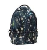 Bari Lynn Denim Splatter Backpack