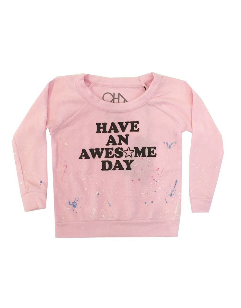 Chaser Awesome Day Splatter Fleece Top