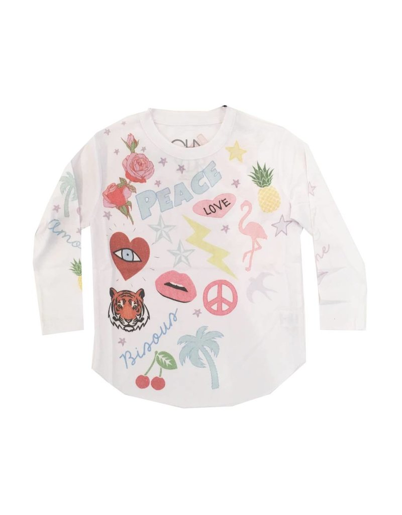 Chaser Peace Patches Top