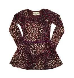 Les Tout Petits Berry Cheetah Dress