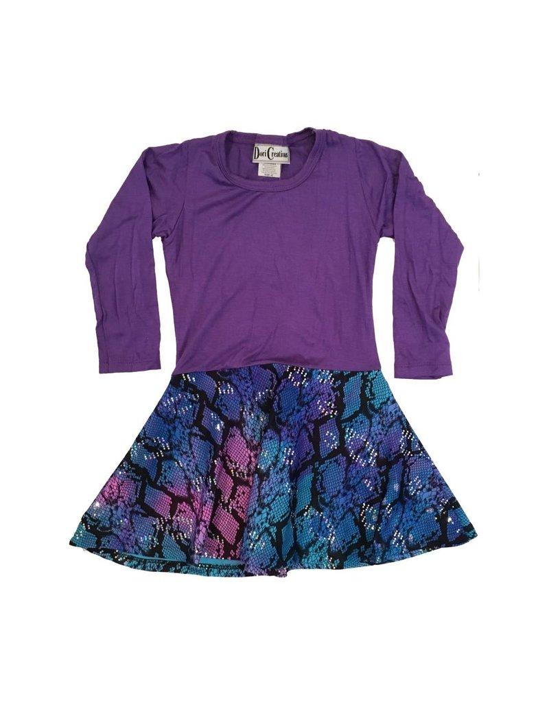 Dori Creations Purple Reptile Dress