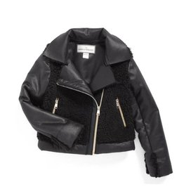 Widgeon Faux Suede Moto Jacket