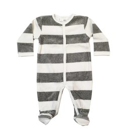 Petit Lem Striped Velour Footie
