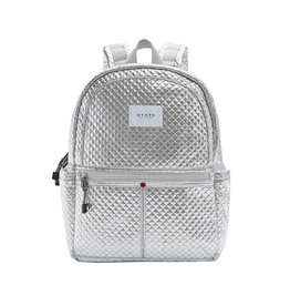 State Bags Silver Quilted Backpack