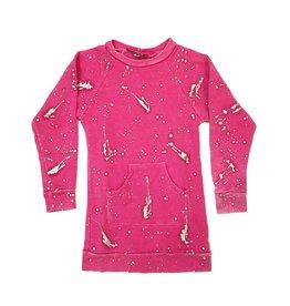 U Go Girl Splatter Sweatshirt Dress