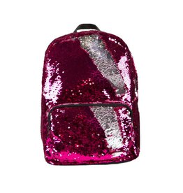 Pink/Silver Reversible Sequin Backpack