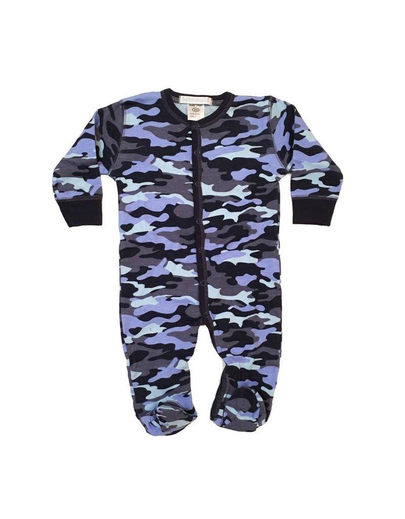 Baby Steps Navy Camo Footie