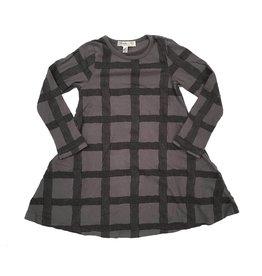 Joah Love Grid Print Swing Dress