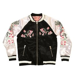 Flowers By Zoe Floral Satin Jacket