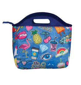 Denim Patches Lunch Tote