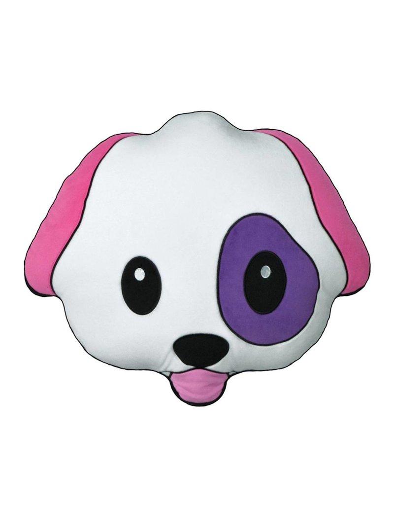 Emoji Dog Fleece Scented Pillow