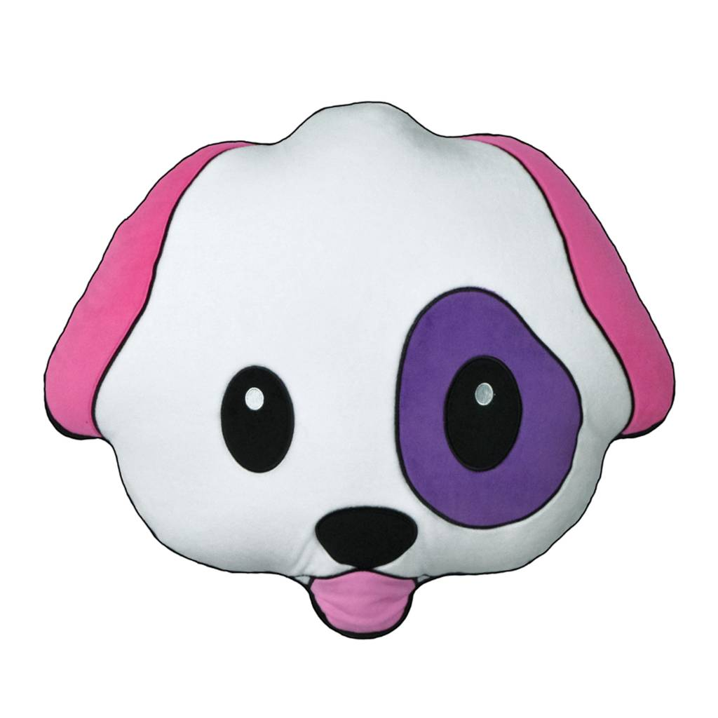 Emoji Dog Fleece Scented Pillow