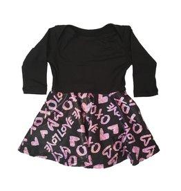 Social Butterfly Sparkle XOXO Skater Dress