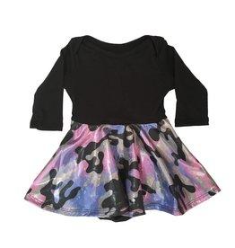 Social Butterfly Sparkle Camo Skater Dress