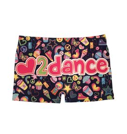 Malibu Sugar Love to Dance Booty Short