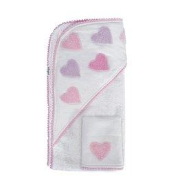 Hello Spud Pink Hearts Towel Set