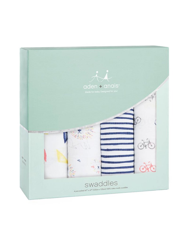 Aden + Anais Leader of the Pack 3pk Swaddles