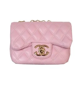 Powder Pink Quilted Crossbody Purse