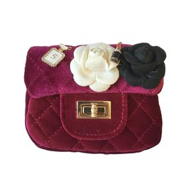 Red Quilted Purse with Pins