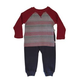 Splendid Stripe Raglan Pant Set