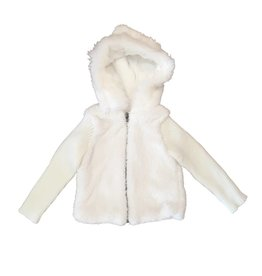 Splendid Faux Fur Sherpa Hoodie Jacket
